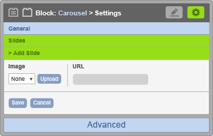 Carousel Block - Slide Settings