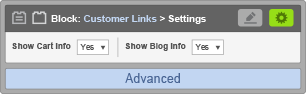 Customer Link Settings