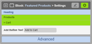 Featured Products Block - Cart Settings
