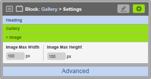 Gallery Block - Image Settings