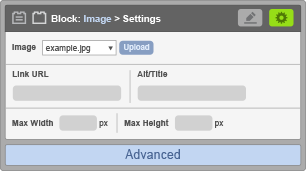 Image Block - Image Settings