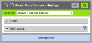 Page Content Block - When On Account Address Book