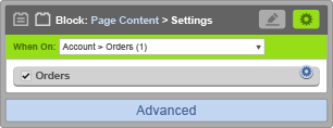 Page Content Block - When On Account Orders