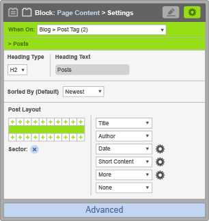 Page Content Block - When On Blog Post Tag - Posts