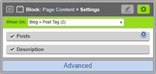 Page Content Block - When On Blog Post
