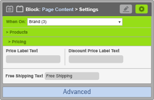 Page Content Block - When On Brand - Pricing Settings
