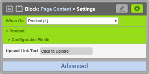 Page Content Block - Configurable Field Settings