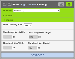 Page Content Block - Image Settings