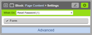 Page Content Block - When On Reset Password