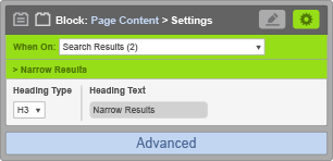 Page Content Block - When On Search Results - Narrow Results