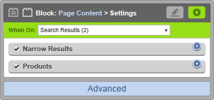 Page Content Block - When On Search Results