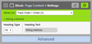 Page Content Block - When on Track Order Order - Billing Address