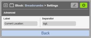 Sub-Panel 2 - Block Settings