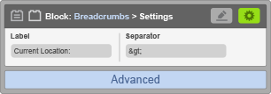 Sub-Panel 2 - Advanced Settings